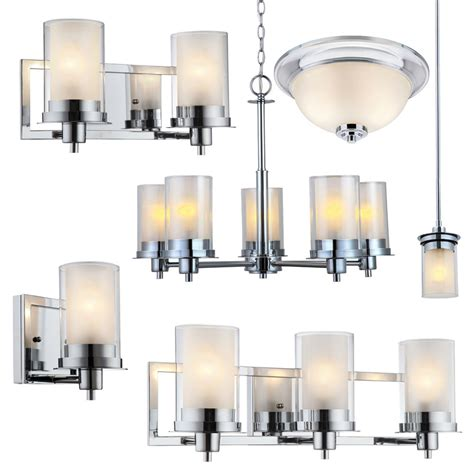 Avalon Polished Chrome Bathroom Vanity Ceiling Lights Chandelier Bathroom Lighting