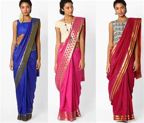 saree draping designs up your saree style 15 indo western saree and blouse
