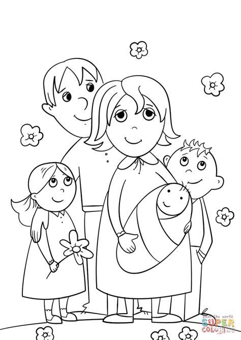 imagenes de la familia para colorear e imprimir dibujo de familia feliz para colorear dibujos para
