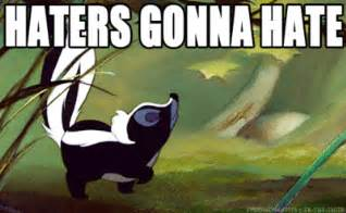 Skunk Meme - 15 funny haters gonna hate gifs smosh