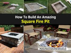 diy square pit how to build an amazing square pit