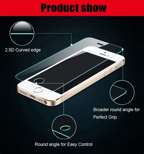 Trendy Tempered Glass Warna Colour Iphone 5 5s High Qualit cool glass tempered iphone 5 5s screen protector scratch proof removable 106093074