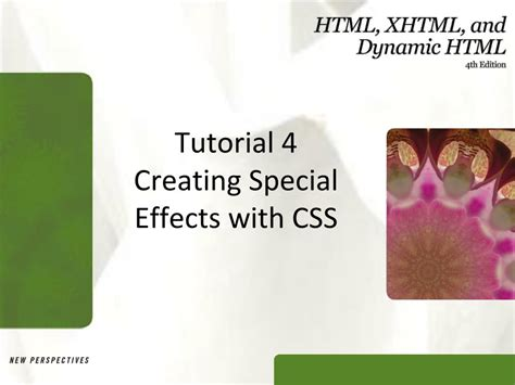 css tutorial ppt free download ppt tutorial 4 creating special effects with css