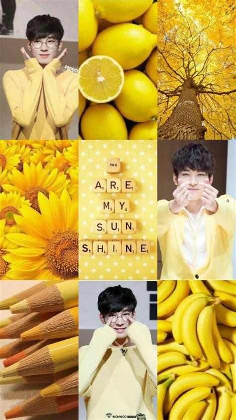 wonwoo moodboard wonwoo seventeen svt yellow