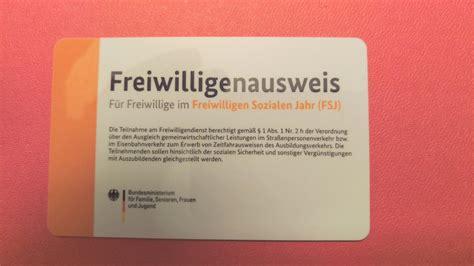 Bewerbung Fsj Niedersachsen Der Freiwilligenausweis Fsj Freiwilligendienste In