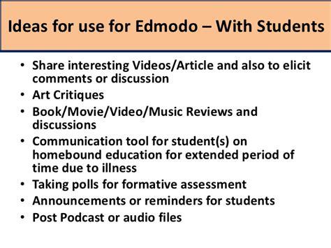 edmodo music edmodo training 7 mobile apps and ideas for edmodo use
