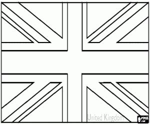coloring page united kingdom flag united kingdom flag coloring page printable