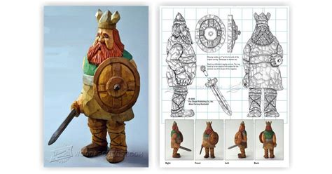 viking carving caricature woodarchivist