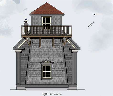 lighthouse house plans with tower lighthouse drawings and