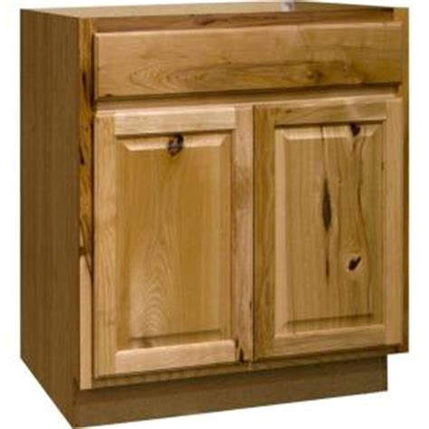 hickory kitchen cabinets home depot hton bay hton assembled 30x34 5x24 in sink base kitchen cabinet in natural hickory ksb30