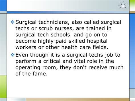 surgical tech job description surgical tech job