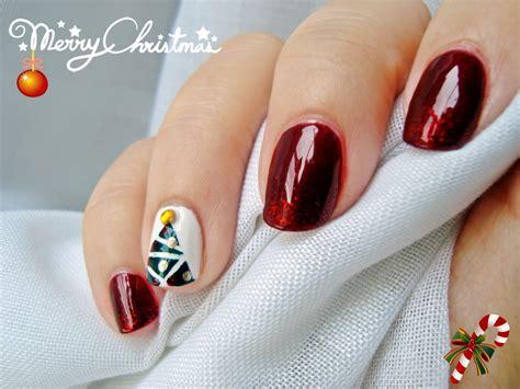 imagenes de uñas pintadas para navidad dise 241 o de u 241 as 225 rbol de navidad nail design christmas
