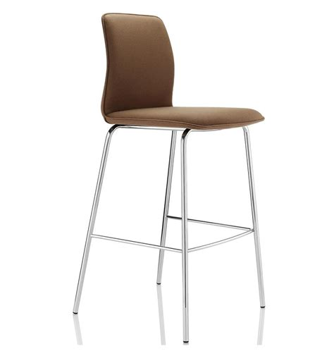 Bar Stools With Chrome Legs by Design Arran Upholstered Bar Stool Chrome 4 Leg