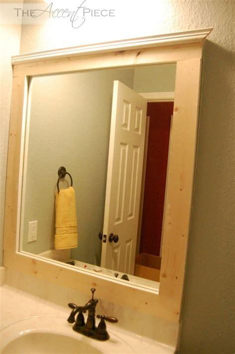 diy badezimmerspiegel rahmen ideen die besten 25 diy mirror frame bathroom ideen auf
