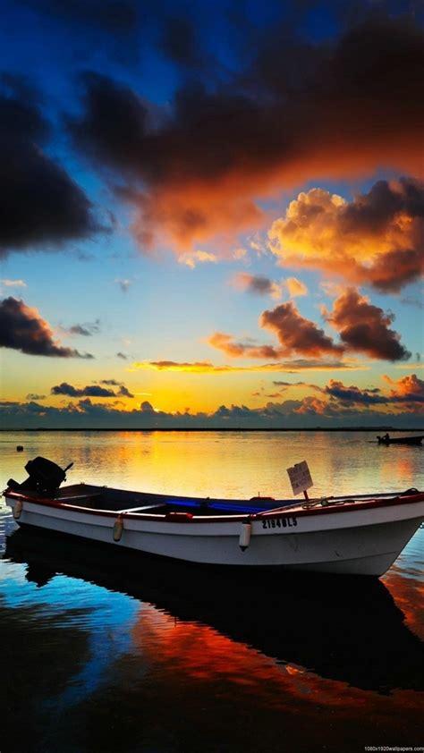 samsung galaxy hd boat wallpaper 1080x1920 boat sunrise wallpapers hd