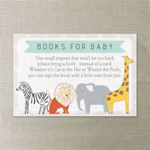 bring book instead of card to baby shower book request zoo animals baby shower book request print at home instead of a card bring a