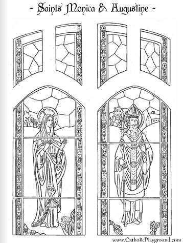 saint augustine coloring page august 28th