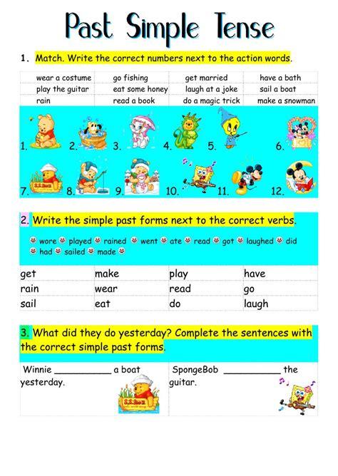 Simple Is 3 past simple tense past simple worksheet