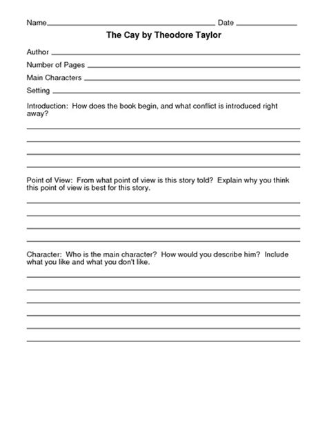 The Cay Vocabulary Worksheets by The Cay Worksheets Resultinfos