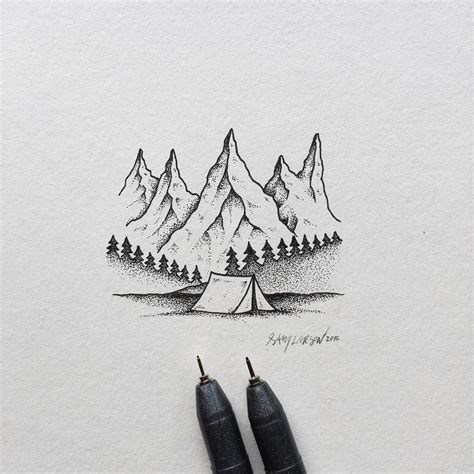 Hand drawn nature themed illustrations by sam larson hipsthetic