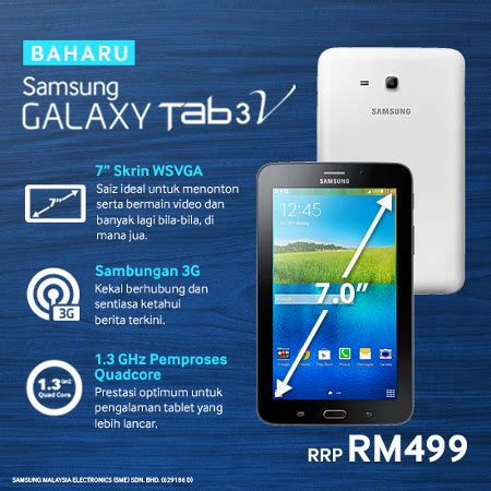 Samsung Galaxy Tab 3v Di Lazada samsung galaxy tab 3 v available in malaysia for rm499 technave