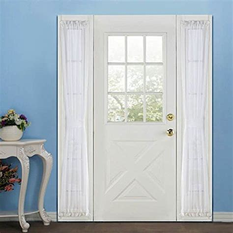 french voile curtain panels voile french door curtains panel sidelight 30w by 72l