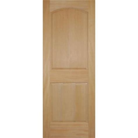 2 panel arch top stain grade wood fir interior door slab