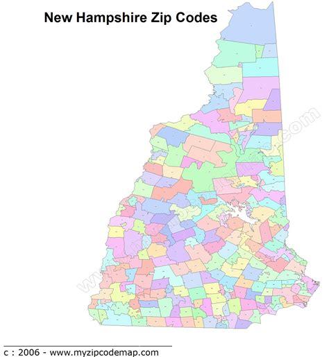 new hshire zip code map new hshire zip code maps free new hshire zip code maps