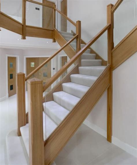 Glass Landing Banister by Wood With Glass Banister Integra Glass From