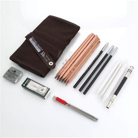 sketchbook kit portable 18 sketch drawing charcoal pencil set