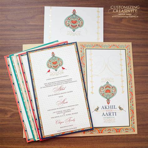designer wedding invitation cards mumbai customizing creativity wedding invitation card in mumbai