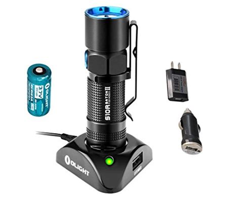 Olight S2 Baton Flashlight Senter Led Rechargeable Bundle bundle 3 items olight s10r ii baton 500 lumens brightest edc mini led rechargeable flashlight