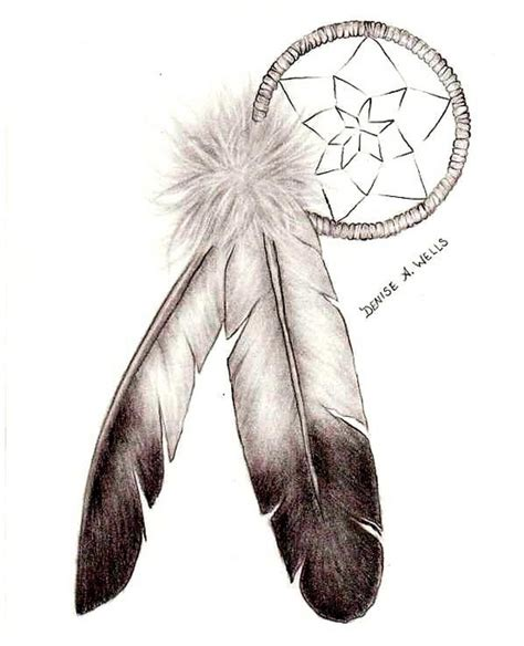 feather tattoo dreamcatcher dreamcatcher and eagle feather tattoo by denise a wells