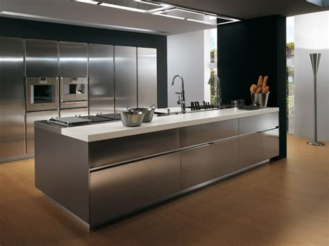 Beautiful Stainless Steel Kitchens Cabinets #3: Contemporary-Stainless-steel-kitchen-cabinets-Elektra-Plain-Steel-by-Ernestomeda-1.jpg
