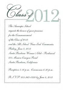 graduation invitation 2012 anacapa school