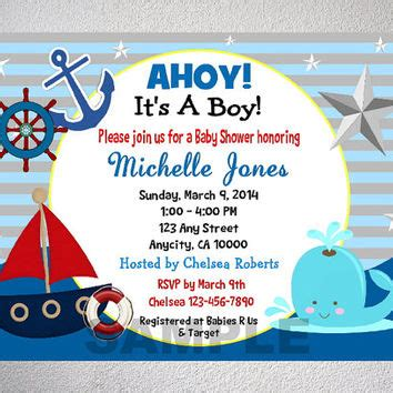 Sailboat Themed Baby Shower Invitations by Nautical Boy Baby Shower Invitation From Dpiexpressions