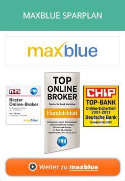 deutsche bank maxblue deutsche bank maxblue etf fonds sparplan im test