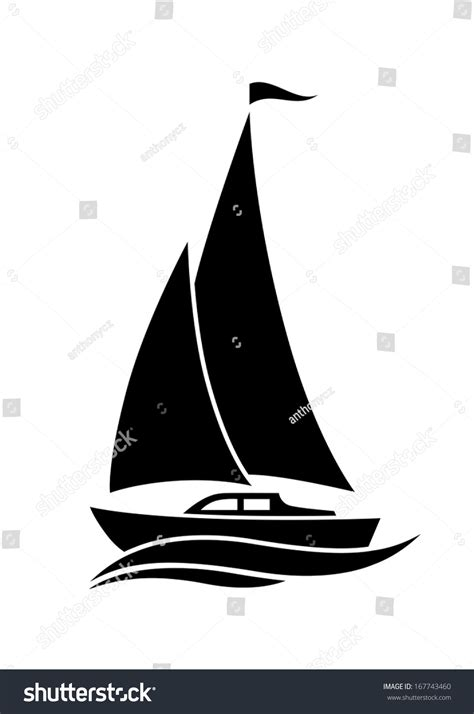 sailboat vector icon sailboat icon stock vector 167743460 shutterstock