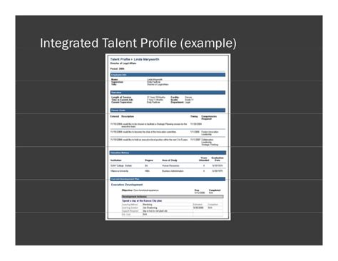 talent profile template talent profile template 28 images employee profiling