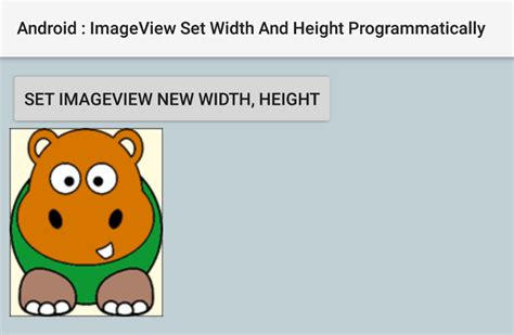 android set layout width and height programmatically how to set imageview width and height programmatically in