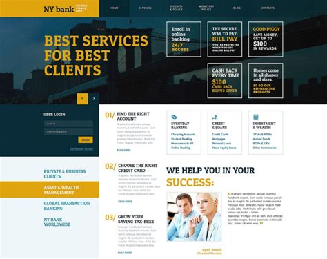 banking templates for a website bank wordpress website templates themes free premium