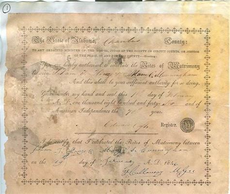 Chambers County Marriage Records Alabama Usgenweb Archives Chambers County Vital Records