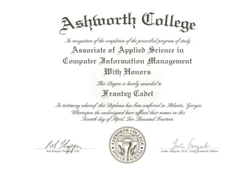 College Mba Degree Plan by Ashworth College Degree