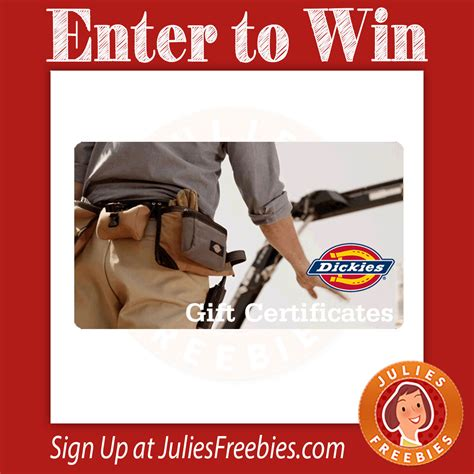 Dickies Gift Card - win a 150 dickies gift card julie s freebies