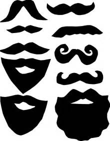 mustache template free photo booth mustache printables clipart best