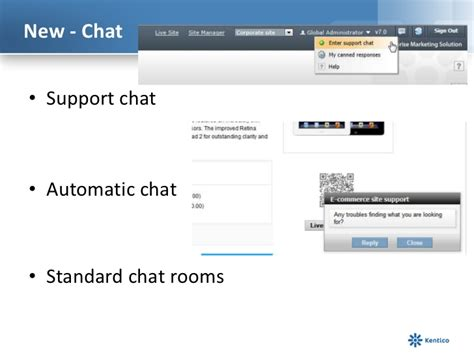 Chat Room Presenter by Kentico Cms User Presents Here Comes Version 7