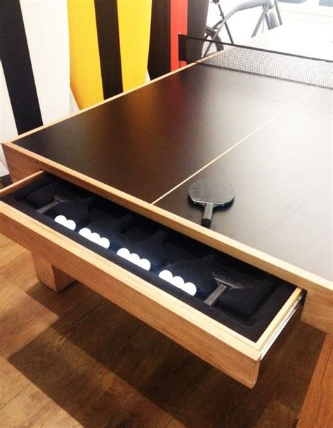 add a drawer under a table built in ping pong storage not many tables come with such