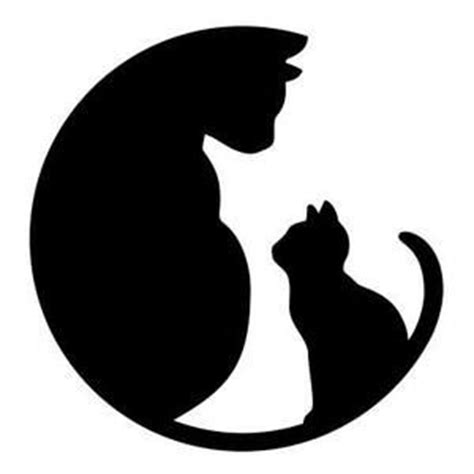 cat silhouette template se pinterests topplista med de 25 b 228 sta id 233 erna om animal