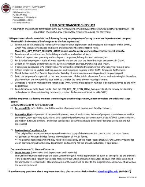 hr employee transfer letter templates