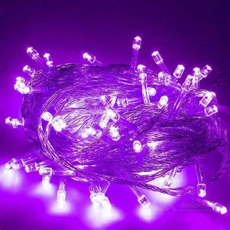 12w 200 led purple light christmas twinkle string lights